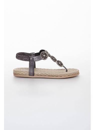 Dilimler Ayakkabı Spor Sandalet Gümüş